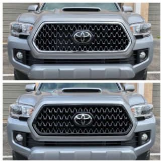 2018-2019 Toyota Tacoma  TRD SPORT/OFF-ROAD 1PC Black  Overlay Grille