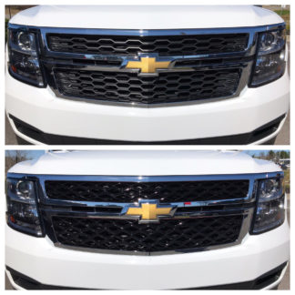 2015-2020 Chevrolet Suburban  | 2015-2020 Chevrolet Tahoe  2PC Black DIAMOND DESIGN Overlay Grille