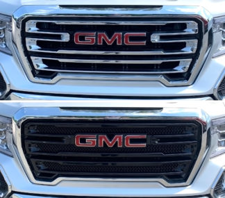 2019-2020 GMC Sierra 1500  Only Fits AT4 and SLT 2PC Black  Overlay Grille