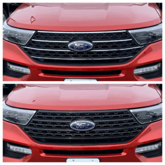 2020-2020 Ford Explorer  XLT/XL NO CAMERA 1PC GlossBlack SNAP-ON Overlay Grille
