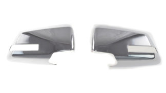 2009-2016 GMC Acadia | 2009-2017 Chevrolet Traverse W/ SIGNAL CUT-OUT OPTION. FULL COVER Chrome Mirror Cover