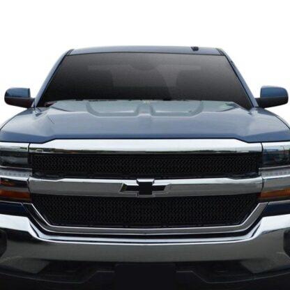 2016-2018 Chevrolet Silverado 1500 2PC Gloss Black Overlay Grille