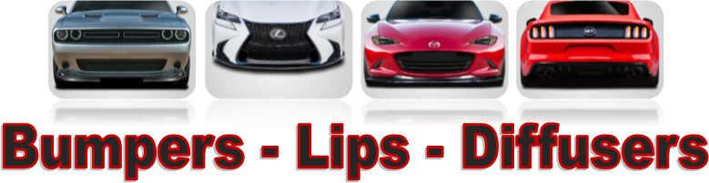 Rear Front Bumpers Lips Diffusers
