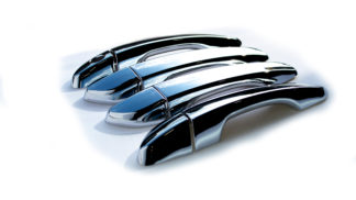 Chrome Black Door Handle Covers