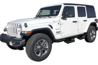 Square Tube Drop Down Style Nerf Bars - Carbon Black | 2018-2020 Jeep Wrangler JL
