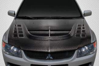 2003-2006 Mitsubishi Lancer Evolution 8 9 Carbon Creations DriTech VT-X Hood - 1 Piece
