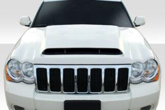 2005-2010 Jeep Grand Cherokee Duraflex Demon Look Hood - 1 Piece