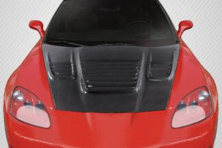 2005-2013 Chevrolet Corvette C6 Carbon Creations World Challenge Look Hood - 1 Piece