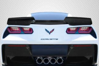 2014-2019 Chevrolet Corvette C7 Carbon Creations Wickerbill Rear Wing Spoiler - 3 Piece