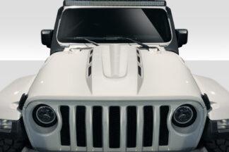 2019-2020 Jeep Wrangler JL Gladiator JT Duraflex Energy Hood - 1 Piece