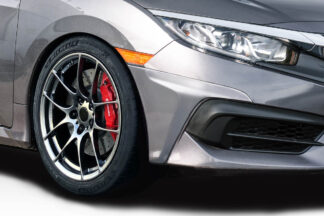 2016-2020 Honda Civic 4DR Duraflex HFP Look Front Lip Add On - 2 Piece