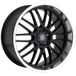 Beyern Wheel - MESH Gloss Black Center / Machined Lip