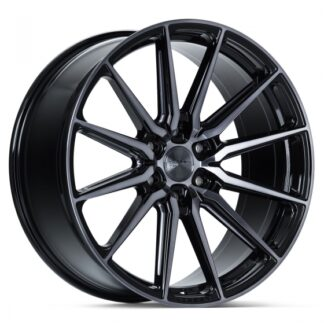 Vossen Wheel -  HF6-1 Gloss Black Machined Face w/Smoke Tint