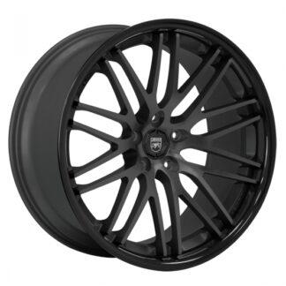 Lexani Wheel - R-TWENTY Satin Black Center / Gloss Black Lip