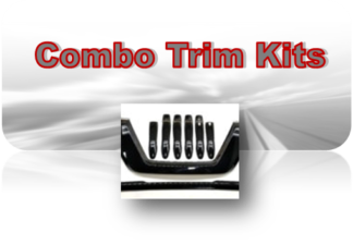 Combo Kits; Includes Black Overlay Grille - Mirror Covers - Door Handle Covers