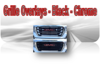 Grille Overlays - Chrome Black