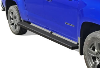 iStep Wheel To Wheel 5 Inch SS Running Boards | 2015-2020 Chevy Colorado Crew Cab 2015-2020 GMC Canyon Crew Cab 5 ft Bed (Black) - Pair
