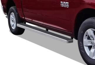 iStep Wheel To Wheel 5 Inch SS Running Boards | 2009-2018 Dodge Ram 1500 Crew Cab 5.5 ft Bed (Incl. 2019 Ram 1500 Classic) 2010-2020 Dodge Ram 2500/3500/4500/5500 Crew Cab 5.5 ft Bed (Hairline) - Pair