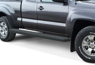 iStep Wheel To Wheel 6 Inch Running Boards | 2005-2020 Toyota Tacoma Extended/Access Cab 6 ft Bed (Black) - Pair