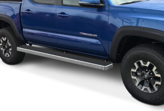 iStep Wheel To Wheel 6 Inch Running Boards | 2005-2020 Toyota Tacoma Double/Crew Cab 5 ft Bed (Hairline) - Pair