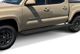 iStep Wheel To Wheel 6 Inch Running Boards | 2005-2020 Toyota Tacoma Double/Crew Cab 5 ft Bed (Black) - Pair