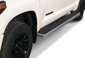iStep Wheel To Wheel 6 Inch Running Boards | 2007-2020 Toyota Tundra Double Cab 5.5 ft Bed 2007-2020 Toyota Tundra CrewMax Cab 5.5 ft Bed (Hairline) - Pair