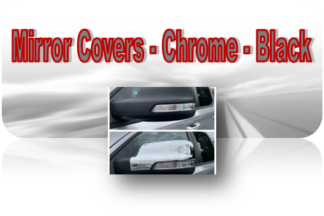 Mirror Covers - Chrome | Black