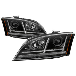 Audi TT 08-15 Sequential Turn Signal Projector Headlight - Halogen Model Only ( Not Compatiable With Xenon/HID Model ) - Black