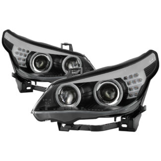 BMW E60 5 Series 08-10 HID Model Only With AFS (Does Not Fit Halogen Model  Non AFS Model ) Projector Headlights - Black