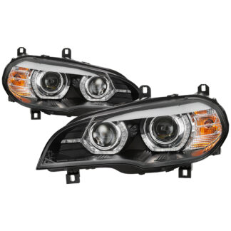BMW X5 E70 2007-2010 AFS Model HID Model Only (Does Not Fit Halogen Model) Projector Headlights - Black