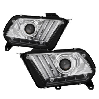 Ford Mustang 2013-2014 HID Model Only (Does Not Fit Halogen Model) Projector Headlights - Sequential Turn Signal - Chrome