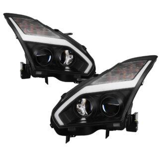 Nissan GTR 09-14 Projector Headlights - Black