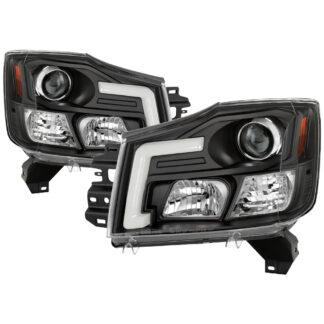 Nissan Titan 04-15 / Nissan Armada 04-07 Version 2 Projector Headlights - Black