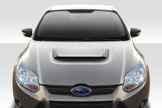 2012-2014 Ford Focus Duraflex Ram Air Hood - 1 Piece
