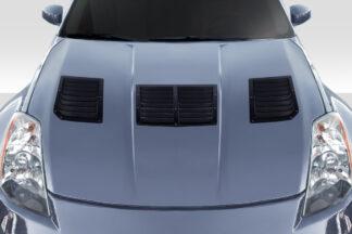 2003-2006 Nissan 350Z Z33 Duraflex GT1 Hood Vents - 3 Piece