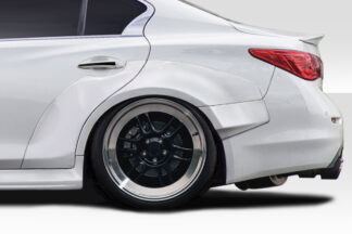 2014-2020 Infiniti Q50 Duraflex Redline Wide Body Rear Fender Flares - 6 Piece