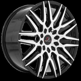 Cavallo Wheels | CLV-24 Gloss Black Machined