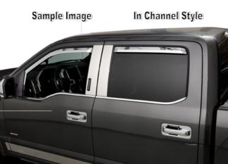 Element Chrome Window Visors |  2015-2019 GMC Sierra HD - 4 door - Double cab In-Channel Style