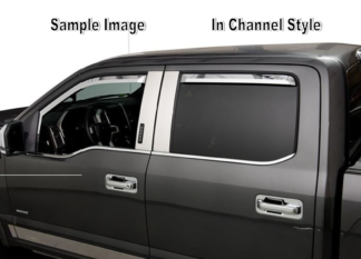 Element Chrome Window Visors |  2019-2021 Chevrolet Silverado / GMC Sierra 1500 - Crew Cab / Double Cab (Set of 2 Front only) In-Channel Style
