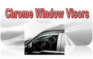 Putco Chrome Element Window Visors (In-Channel and Tape-On)