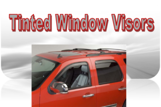 Putco Tinted Element Window Visors (In-Channel and Tape-On)