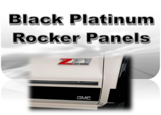 Black Platinum Rocker Panels