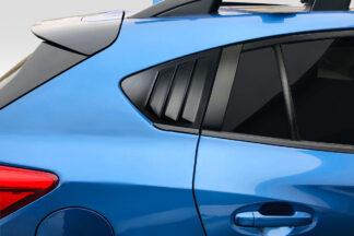 2018-2021 Subaru XV Crosstrek Duraflex Fennec Outdoors Edition Rear Window Scoops - 2 Piece