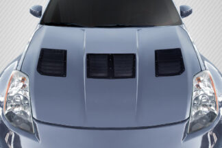 2003-2006 Nissan 350Z Z33 Carbon Creations GT1 Hood Vents - 3 Piece